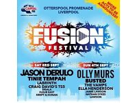 1 x Fusion Sunday 4th September ticket, Liverpool