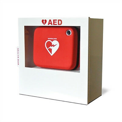Aed Wall Mount Cabinet - Fits Onsite Frx Lifepak Zoll Others