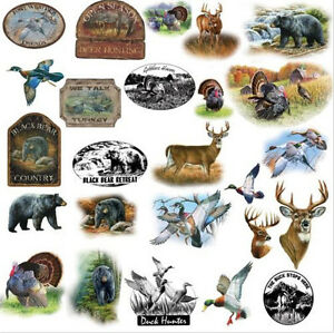 GREAT OUTDOORS Wall Stickers 25 Decals Hunting Wildlife Turkey Bear Deer  Signs Part 97