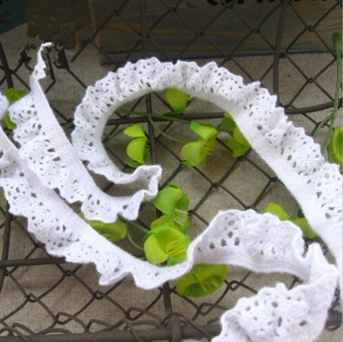 10 Yards Fan form Baumwolle Häkelspitze handwerk Kleidung Spielzeug Nähen