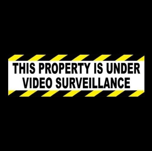 """""""THIS PROPERTY IS UNDER VIDEO SURVEILLANCE"""" cctv business SECURITY STICKER sign"""