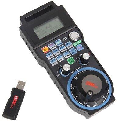 CNC MACH3 Wireless Electronic Handwheel 6 Axis Manual Controller USB Handle MPG