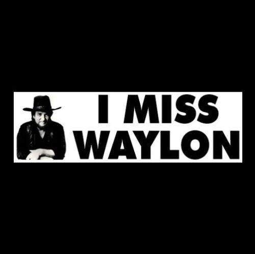 """I MISS WAYLON"" outlaw STICKER Luckenbach, Texas, Willie, The Dukes of Hazzard"