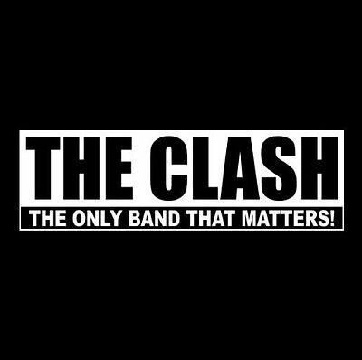 """THE CLASH ...ONLY BAND..."" punk rock BUMPER STICKER Joe Strummer London Calling"