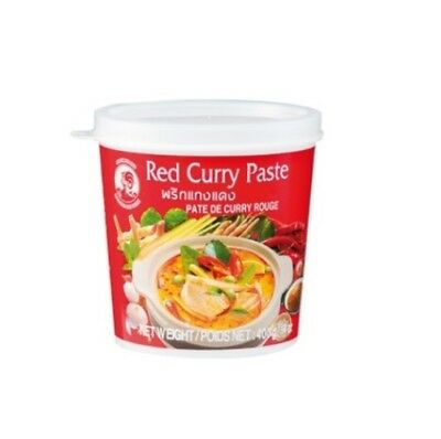 Cock Rote Curry Paste 400g Red Rot Roter Rotes Thai Thailand Gewürzpaste Gewürz