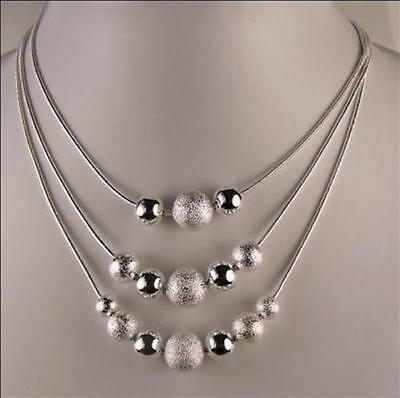 Hot XMAS GIFT Wholesale Fashion Jewelry  Solid 925silver charm necklace