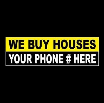 Custom We Buy Houses Real Estate Company Sticker Sign Realtor Business Homes