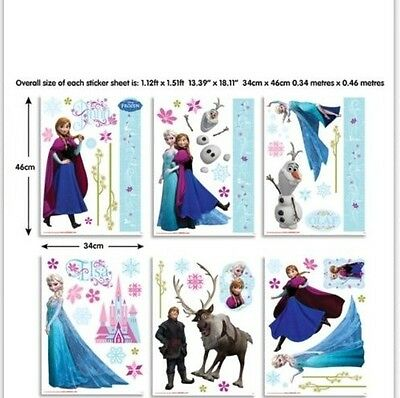 Frozen Elsa Anna Wall Stickers Deluxe Party Room Decoration Olaf Removable