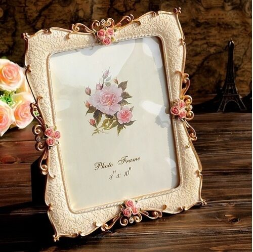 Retro Vintage White Rose Pearl Crystal Home Decor Photo