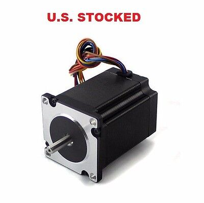 2pcs Nema23 270ozin 2.8a 14 Dual Shaft Stepper Motor Kl23h276-28-4b