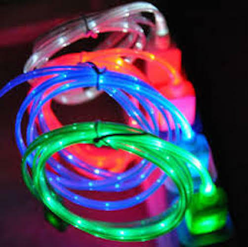LED light-up charger cable FOR apple iPhone 8 7 6 plus 5S 4 galaxy s7 micro usb