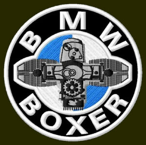 BMW BOXER EMBROIDERED PATCH ~3-1/8