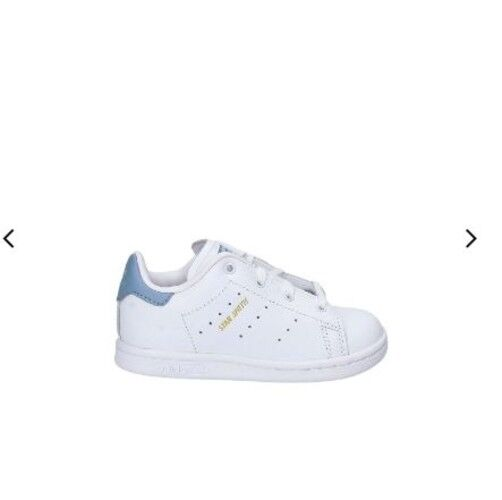 Adidas Stan Smith Infants Leather Lace Up White Blue Infant Size 7K US CP9818
