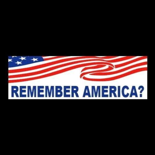 """""""REMEMBER AMERICA?"""" Anti liberal Joe Biden BUMPER STICKER gun rights Trump 2024"""
