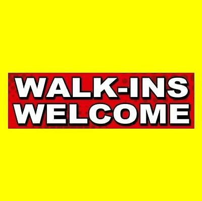 Walk-ins Welcome Hair Salon Barber Shop Sticker Sign Nail Beauty Business