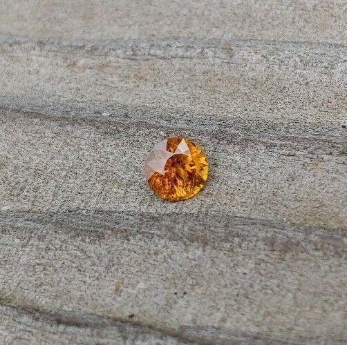 Honey Orange Yellow Color Mali Garnet USA Precision Cut Round 5.15mm .57ct