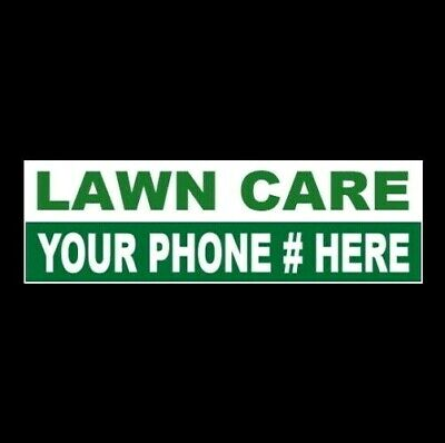 Customized Lawn Care Business Sticker Sign Lawnmower Landscaping Trimming New