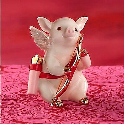 Lenox PIG Cute as Cupid LOVE Pig Valentine NEW IN BOX! $50](Pig Valentine Box)