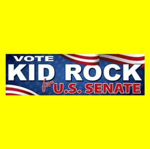"""""""VOTE KID ROCK FOR U.S. SENATE"""" Michigan BUMPER STICKER decal GOP state rap NEW"""
