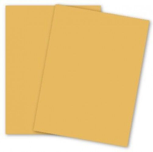 Domtar Colors - Earthchoice GOLDENROD 67# VB Cover - 11 x 17 Cardstock Paper