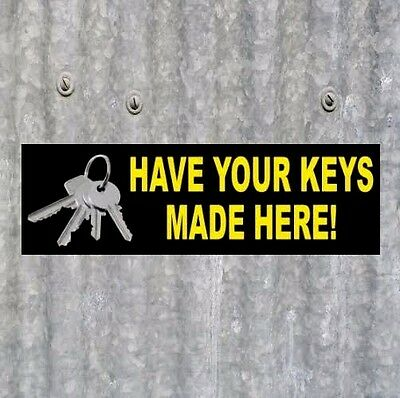 Have Your Keys Made Here Locksmith Business Sticker Store Sign Vintage Decal