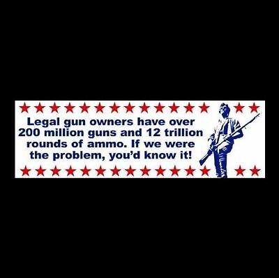 """GUNS & AMMO"" gun rights BUMPER STICKER Tea Party NRA patriot DECAL Molon Labe"