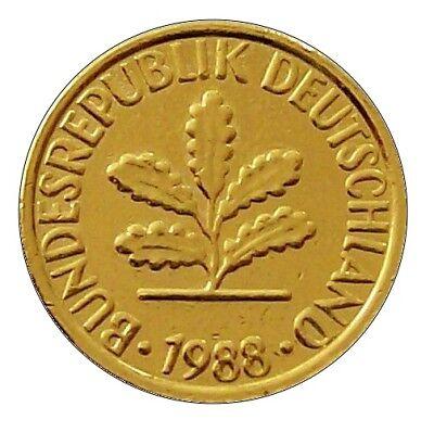+++ 1 Pfennig 1988 / Glückspfennig - 24 Karat vergoldet - 30.Geburtstag  +++