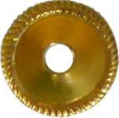 Stamped Brass Round BACKPLATE with Rope Edging 1 inch diameter - pull