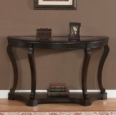 Modern Sofa Table Espresso Finished Wood Living Room Hall Accent Console Tables - Living Room Wood Finish Sofa Table