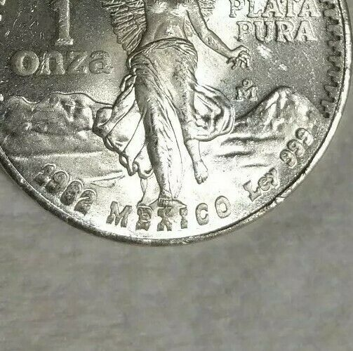 1982 DOUBLE DIE MEXICO ONE OUNCE ONZA SILVER LIBERTAD!  RARE