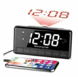 iLuv Morning Call 3 Projection FM Clock Radio Dual Alarm Phone Charging Port New