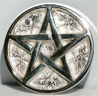 Silver Plated Pentacle Altar Paten