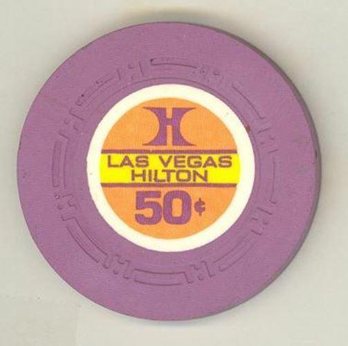 Las Vegas Hilton Casino 50 Cent Chip 1975