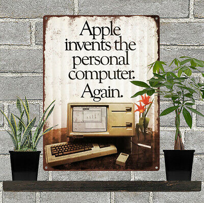 "1983 APPLE Invents the Personal Computer AGAIN LISA Metal Sign Repro 9x12/"" 60484"