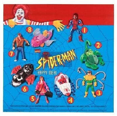 1995 McDonalds Marvel's Amazing Spiderman set of 8 Mcdonald's 1-8 New in Package