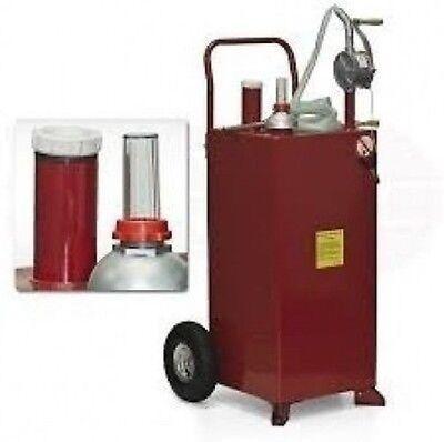 Rolling 30 Gallon Fuel Liquid Pump Storage Caddy Cart