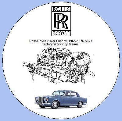 Rolls Royce Silver Shadow MK.1 1965-1976 Factory Workshop Manual