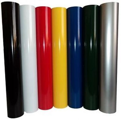 Vinyl Rolls Film Material Self Adhesive Backed Sign Colors Package 7 24 10yd