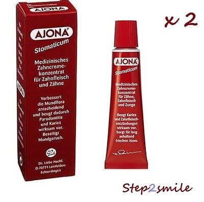 2 X Ajona Toothpaste STOMATICUM.Travel size 25 ml
