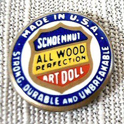 Schoenhut Art Doll Pinback For Your Doll - $7.99
