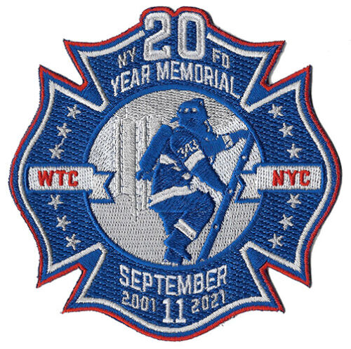 20 Year Memorial 9-11 WTC, NYC Fire Patch September 11th