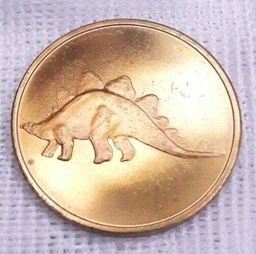 Rare Antique HUDSON NY Worlds Fair Exhibit Preview Dinosaur Token Coin 1963
