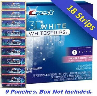 Crest 3D White Gentle Routine Whitening Strips. Teeth Dental. 18 Strips  on Rummage