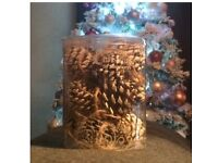 Sainsbury's Christmas Tree Decorations Snow Pine Cones