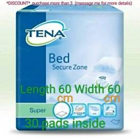 Tena Bed Secure Zone Super bed Pad 30