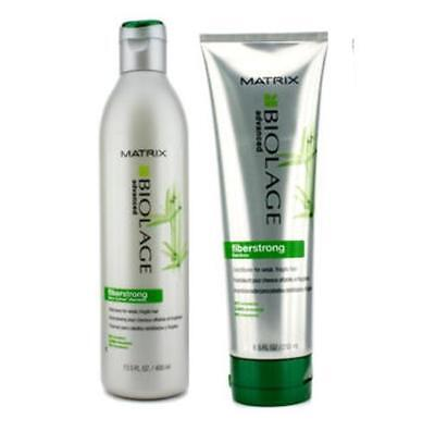 Matrix Biolage Advanced Fiberstrong Bamboo Shampoo and Conditioner 13.5 /8.5 oz