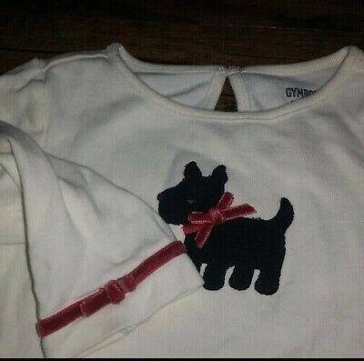 Lot Gymboree Holiday Friends Dog Shirt Red Carter's Black Pants 12-18 months *