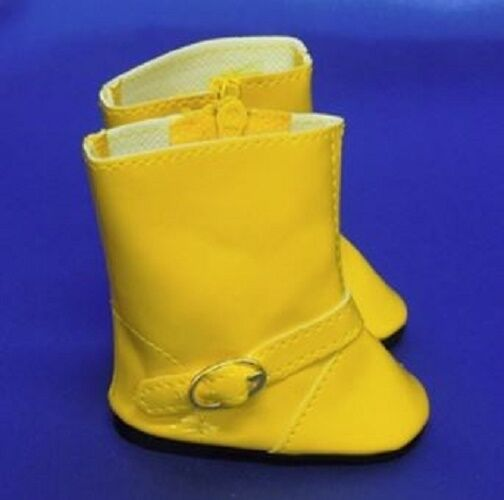"Yellow Rain Boots Wellies for American Girl Boy 18"" or Bitty Baby 15"" Doll Shoes"