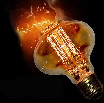 scaldfish Vintage lantern lamp Carbon Edison Squirrel Cage E26 E27 Light bulb