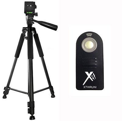 """XIT 60"""" Tripod + Wireless Remote for Nikon D7100 D5300 D5200 D5100 D3300 D3200"""